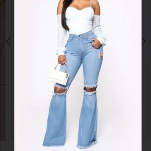 ✨NEW LIST✨ Dazed For Days Flare Jeans Distressed